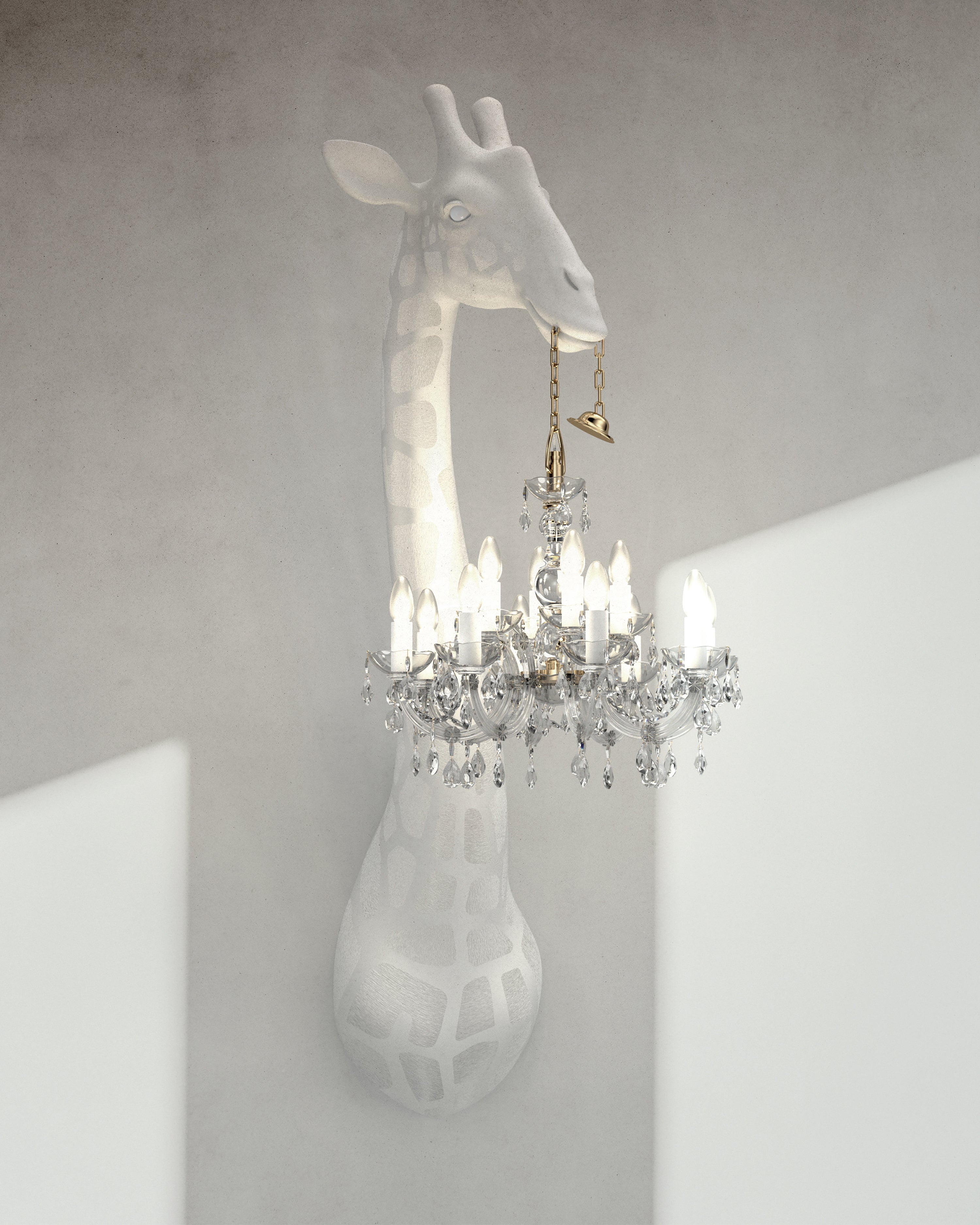 Customizable Modern 5 5 Foot White Or Black Giraffe Wall Lamp Sconce Chandalier For Sale At 1stdibs
