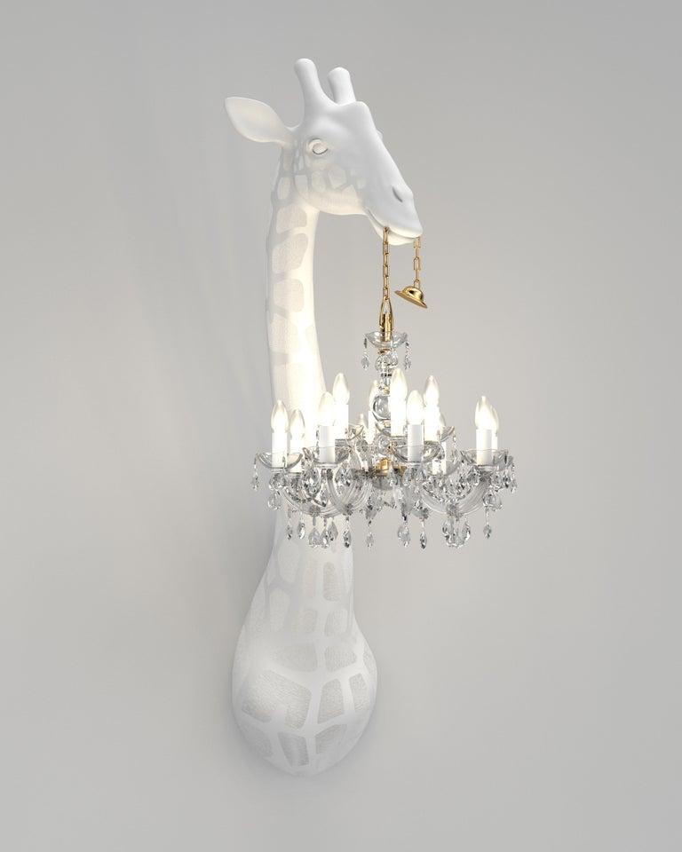 For Sale: White Qeeboo Giraffe in Love Wall Lamp by Marcantonio 3