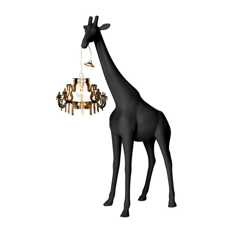 For Sale: Black Qeeboo Giraffe in Love XS Lamp by Marcantonio 2