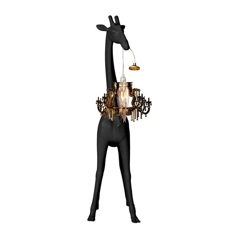 For Sale: Black Qeeboo Giraffe in Love XS Lamp by Marcantonio 3