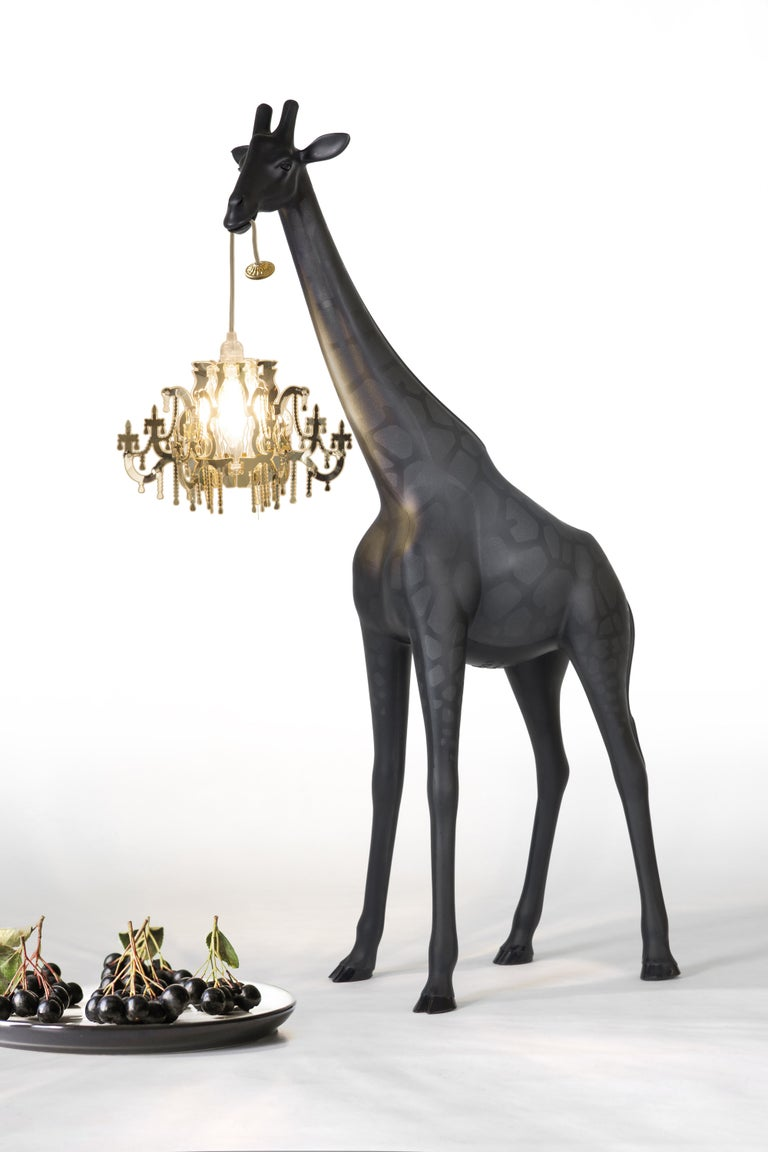 For Sale: Black Qeeboo Giraffe in Love XS Lamp by Marcantonio 5