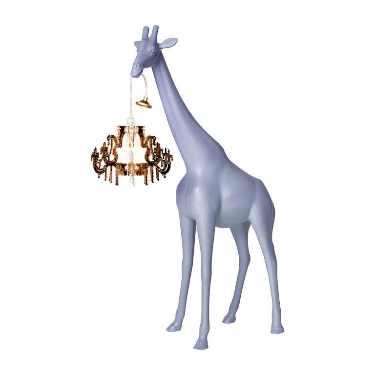 For Sale: Blue (Stormy Grey) Qeeboo Giraffe in Love XS Lamp by Marcantonio 2