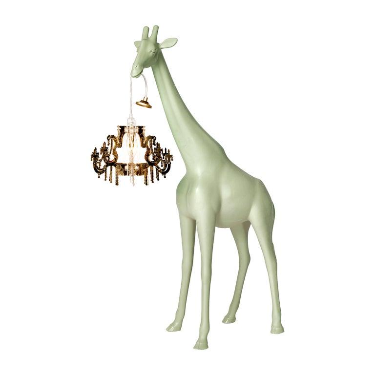 For Sale: Green (Warm Sand) Qeeboo Giraffe in Love XS Lamp by Marcantonio 2