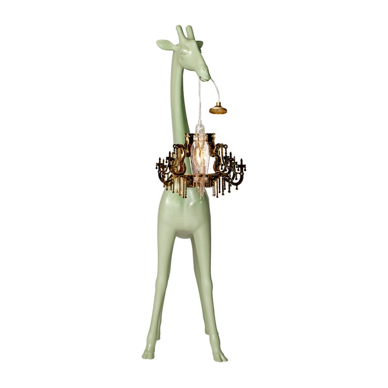 For Sale: Green (Warm Sand) Qeeboo Giraffe in Love XS Lamp by Marcantonio 3