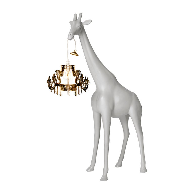 For Sale: Gray (Cold Sand) Qeeboo Giraffe in Love XS Lamp by Marcantonio 2