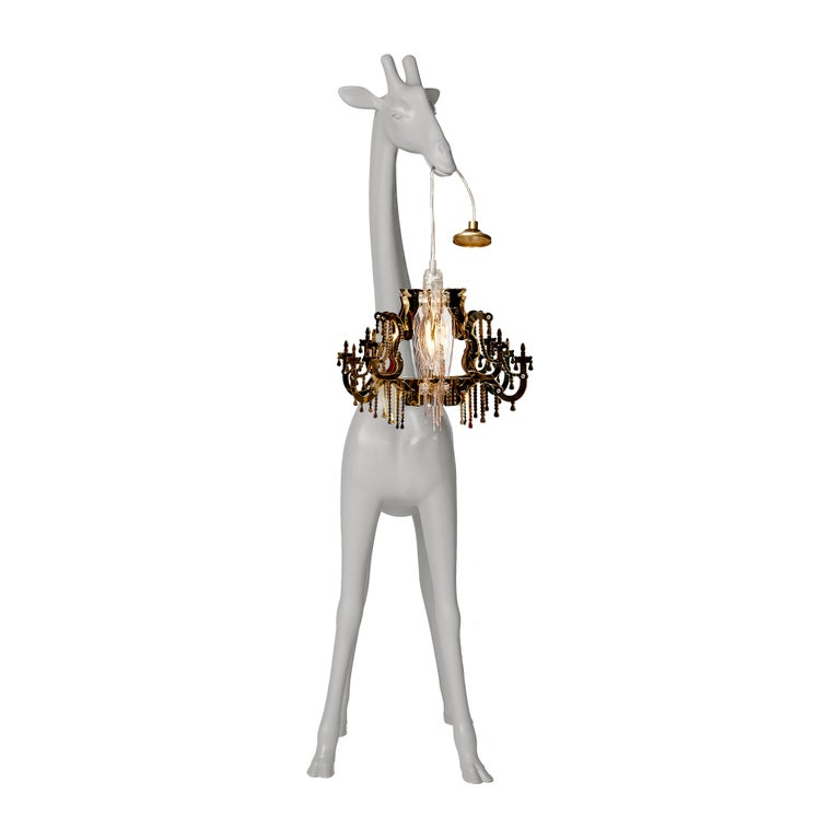 For Sale: Gray (Cold Sand) Qeeboo Giraffe in Love XS Lamp by Marcantonio 3