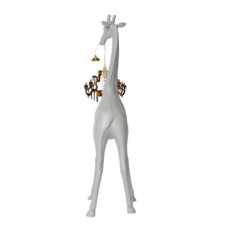 For Sale: Gray (Cold Sand) Qeeboo Giraffe in Love XS Lamp by Marcantonio 4