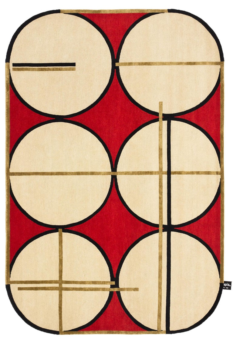 For Sale: Gold CC-Tapis Credenza Soie Rug by Patricia Urquiola & Federico Pepe