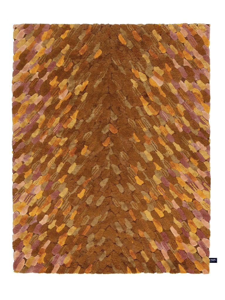 For Sale: Yellow (Amber) CC-Tapis Envolee Rug by Cristina Celestino