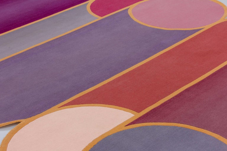 For Sale: Pink (Pink ) CC-Tapis Rotazioni A Rug by Patricia Urquiola 3