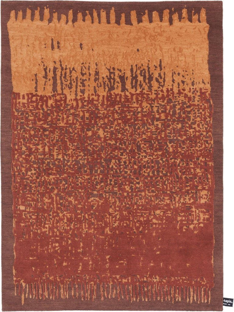 For Sale: Brown (Rust) CC-Tapis Sasha Rug by Nelly Maye