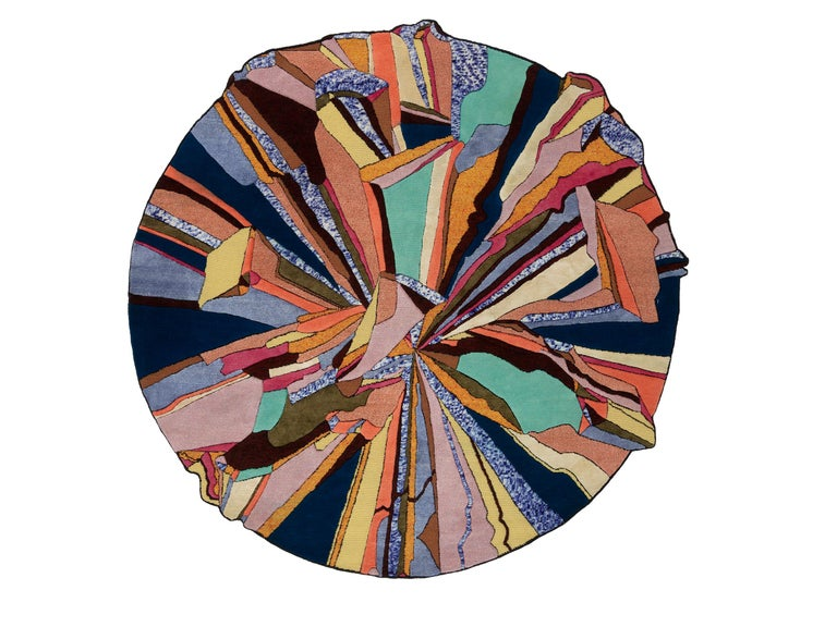 For Sale: Multi (Hot) CC-Tapis Super Fake Super Round Rug by Bethan Laura Wood