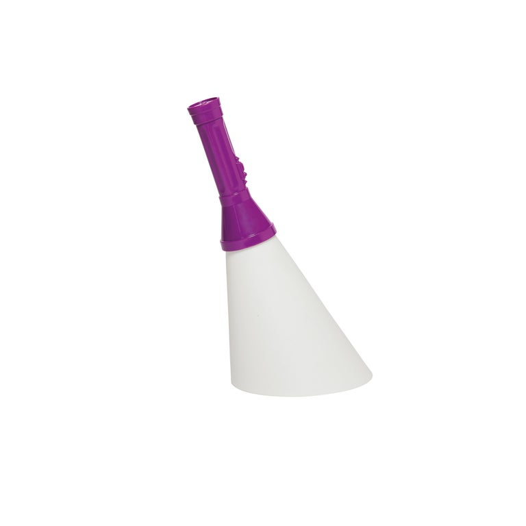 For Sale: Purple Modern Black Purple Red Orange Yellow Green White Flashlight Table Lamp