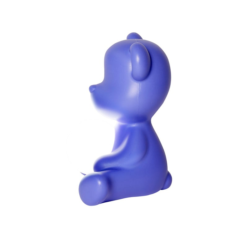For Sale: Purple (Violet) Modern Purple Green Orange Pink White Blue Black or Yellow Teddy Bear Table Lamp 6