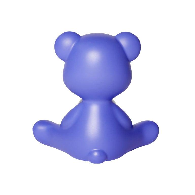 For Sale: Purple (Violet) Modern Purple Green Orange Pink White Blue Black or Yellow Teddy Bear Table Lamp 7