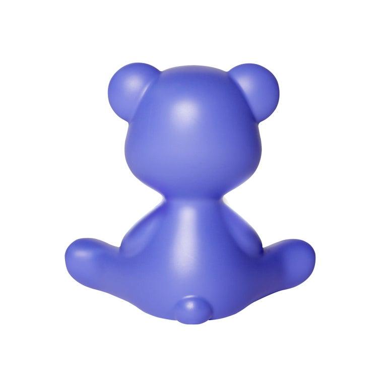 For Sale: Purple (Violet) Modern Purple Green Orange Pink White Blue Black or Yellow Teddy Bear Table Lamp 8