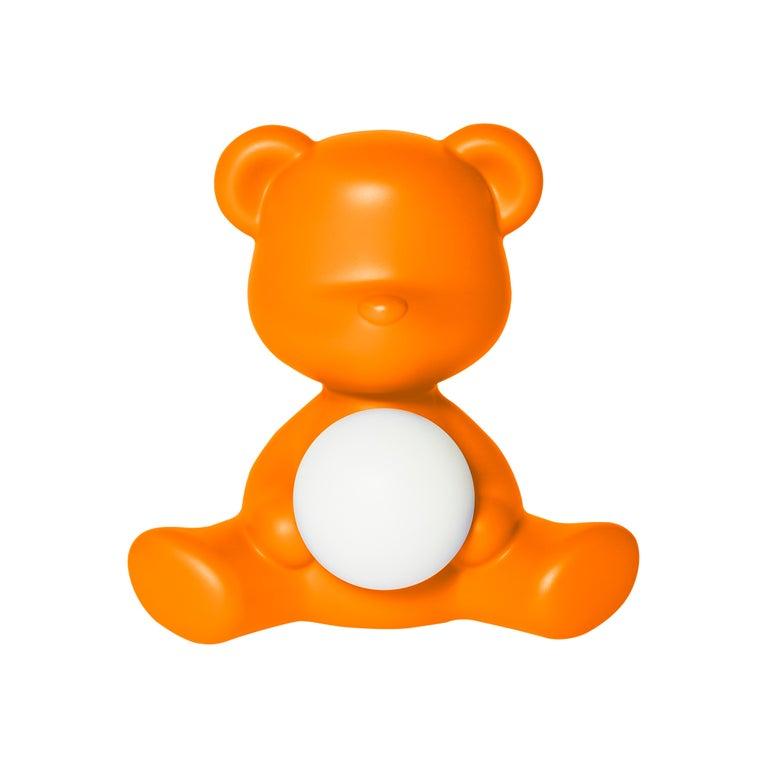 For Sale: Orange Modern Purple Green Orange Pink White Blue Black or Yellow Teddy Bear Table Lamp