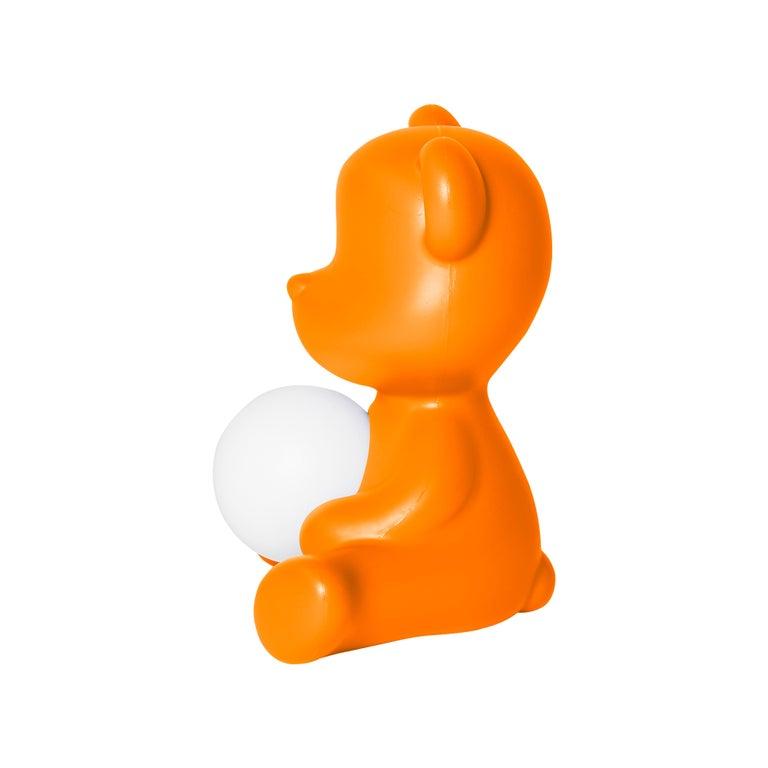For Sale: Orange Modern Purple Green Orange Pink White Blue Black or Yellow Teddy Bear Table Lamp 5