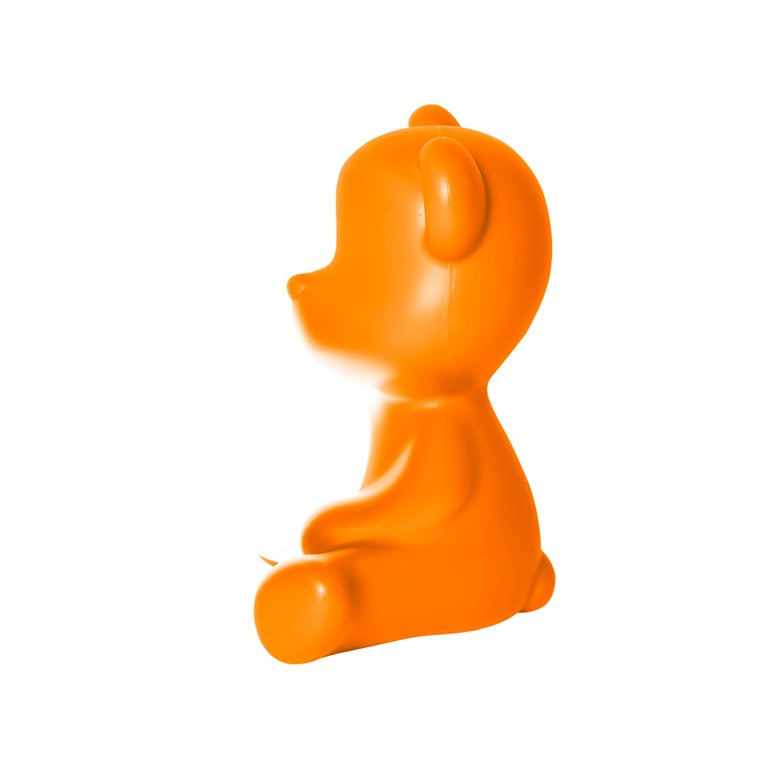 For Sale: Orange Modern Purple Green Orange Pink White Blue Black or Yellow Teddy Bear Table Lamp 6