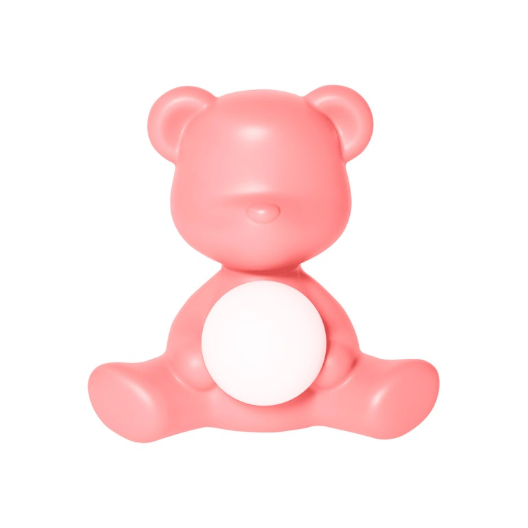 For Sale: Pink (Bright Pink) Modern Purple Green Orange Pink White Blue Black or Yellow Teddy Bear Table Lamp