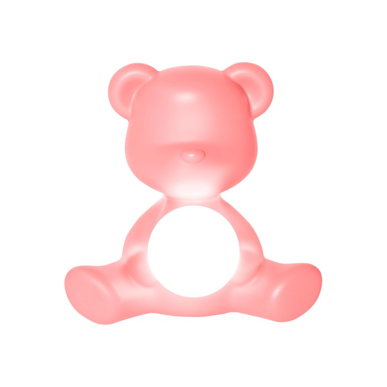 For Sale: Pink (Bright Pink) Modern Purple Green Orange Pink White Blue Black or Yellow Teddy Bear Table Lamp 2