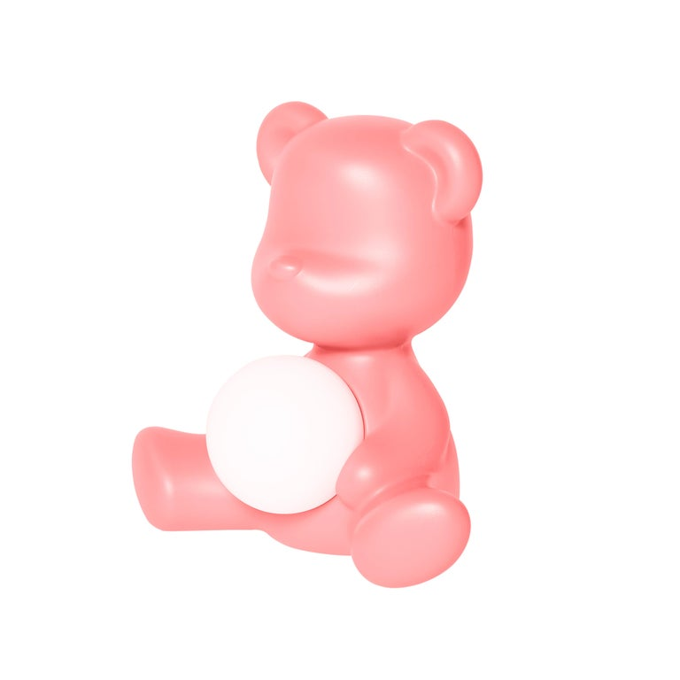 For Sale: Pink (Bright Pink) Modern Purple Green Orange Pink White Blue Black or Yellow Teddy Bear Table Lamp 3