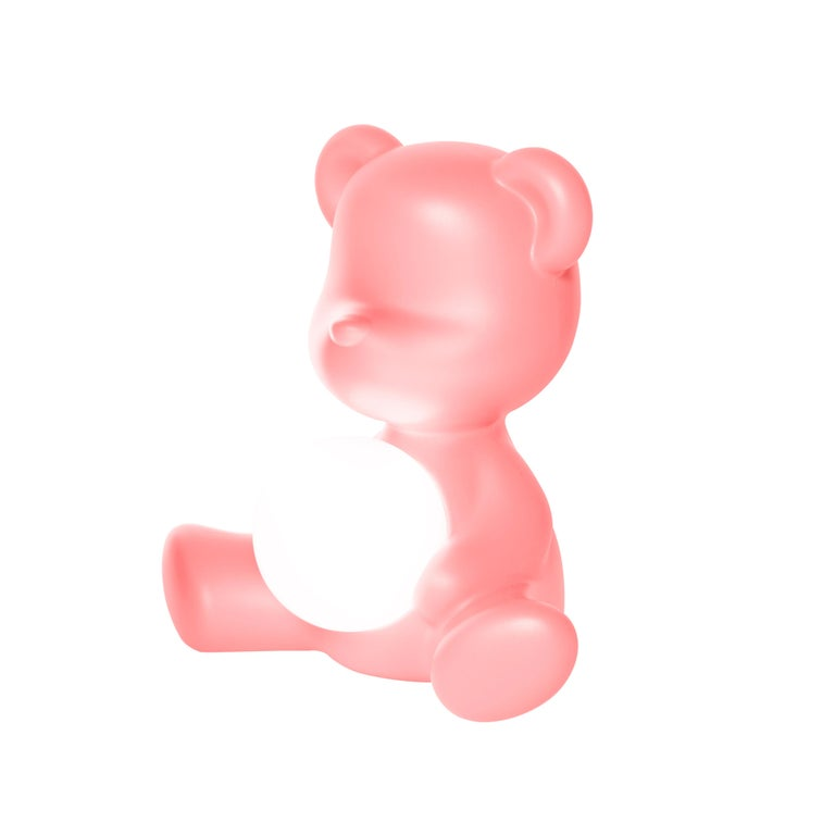 For Sale: Pink (Bright Pink) Modern Purple Green Orange Pink White Blue Black or Yellow Teddy Bear Table Lamp 4