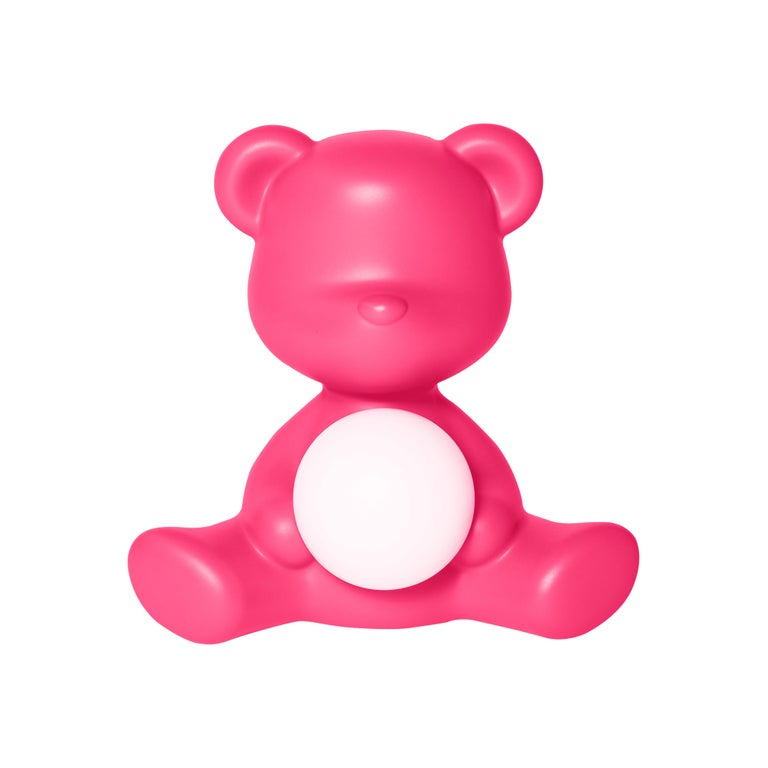 For Sale: Pink (Fuxia) Modern Purple Green Orange Pink White Blue Black or Yellow Teddy Bear Table Lamp