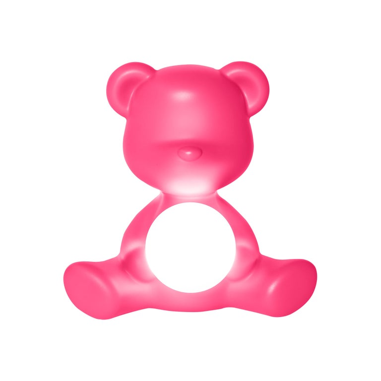 For Sale: Pink (Fuxia) Modern Purple Green Orange Pink White Blue Black or Yellow Teddy Bear Table Lamp 2