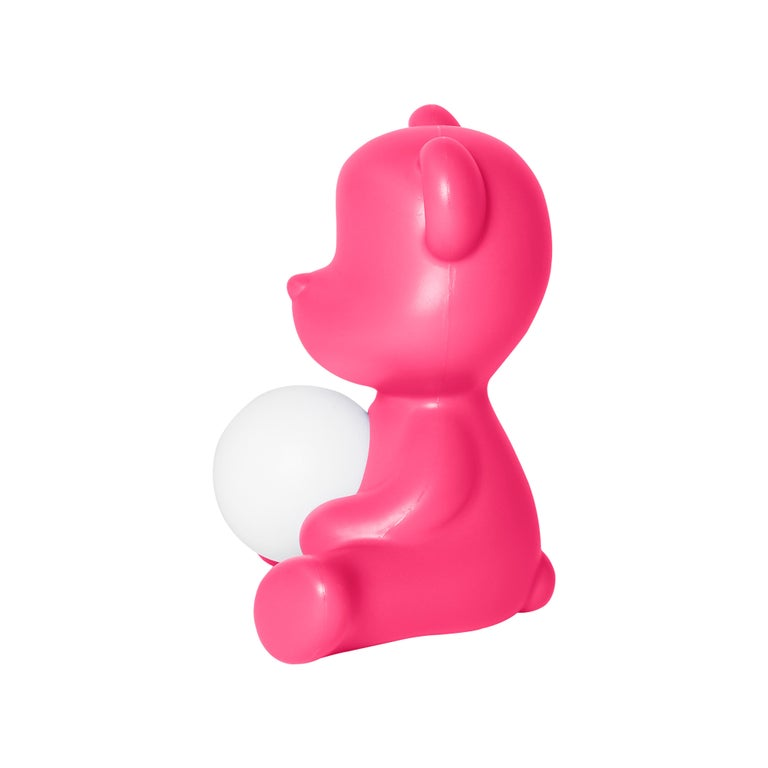 For Sale: Pink (Fuxia) Modern Purple Green Orange Pink White Blue Black or Yellow Teddy Bear Table Lamp 5