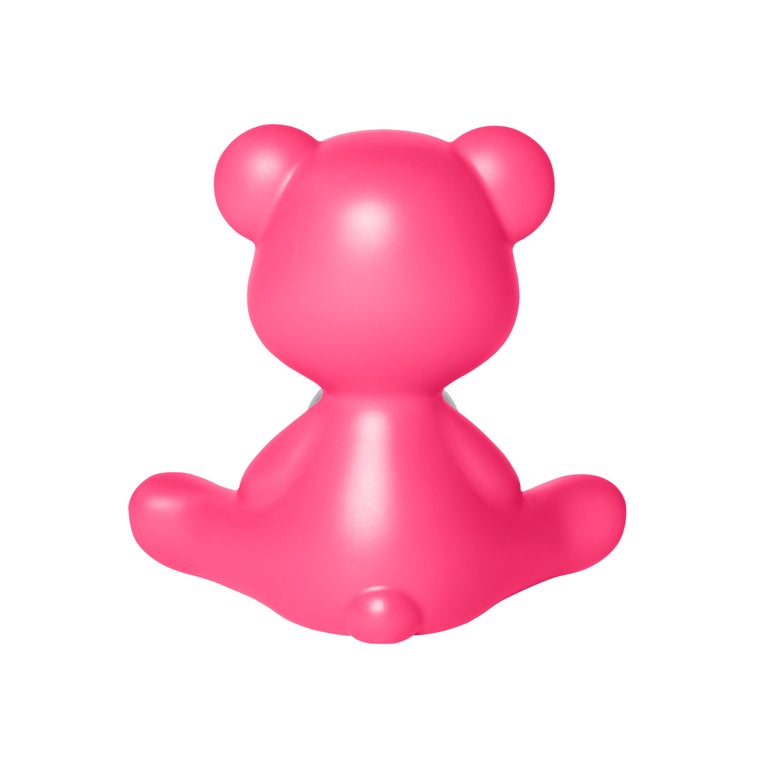 For Sale: Pink (Fuxia) Modern Purple Green Orange Pink White Blue Black or Yellow Teddy Bear Table Lamp 7