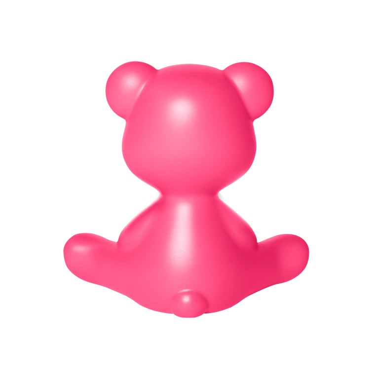 For Sale: Pink (Fuxia) Modern Purple Green Orange Pink White Blue Black or Yellow Teddy Bear Table Lamp 8