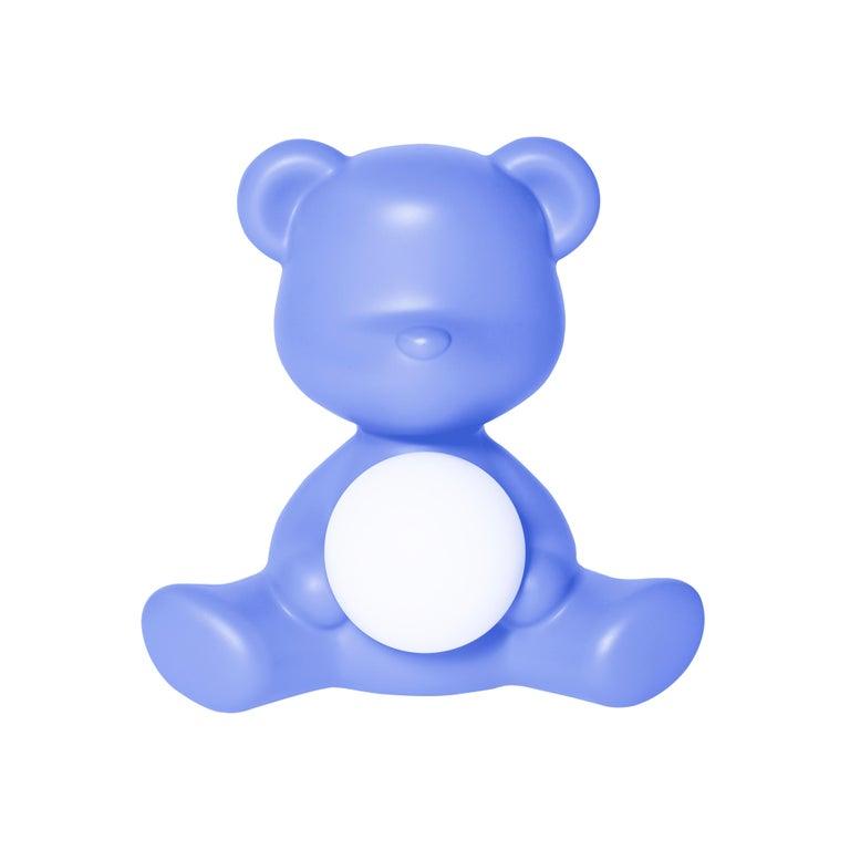 For Sale: Blue (Light Blue) Modern Purple Green Orange Pink White Blue Black or Yellow Teddy Bear Table Lamp