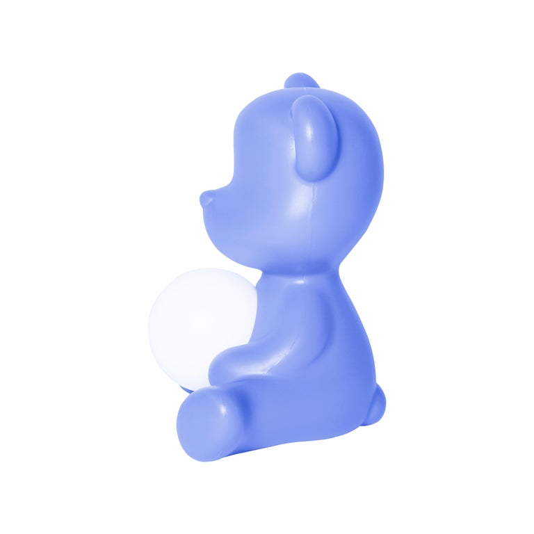 For Sale: Blue (Light Blue) Modern Purple Green Orange Pink White Blue Black or Yellow Teddy Bear Table Lamp 5