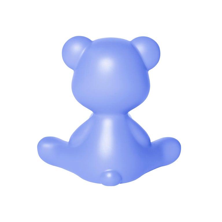 For Sale: Blue (Light Blue) Modern Purple Green Orange Pink White Blue Black or Yellow Teddy Bear Table Lamp 7