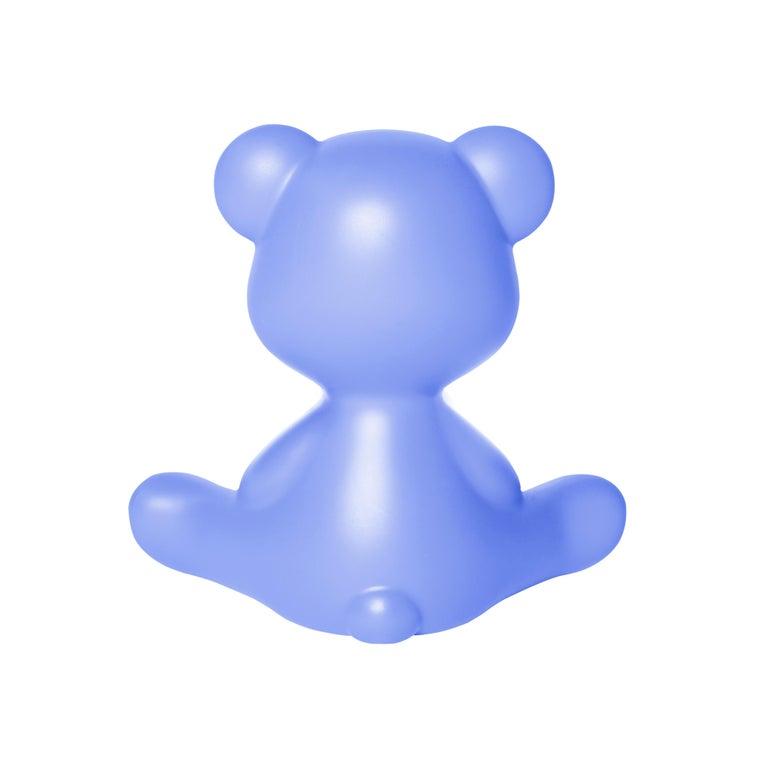 For Sale: Blue (Light Blue) Modern Purple Green Orange Pink White Blue Black or Yellow Teddy Bear Table Lamp 8