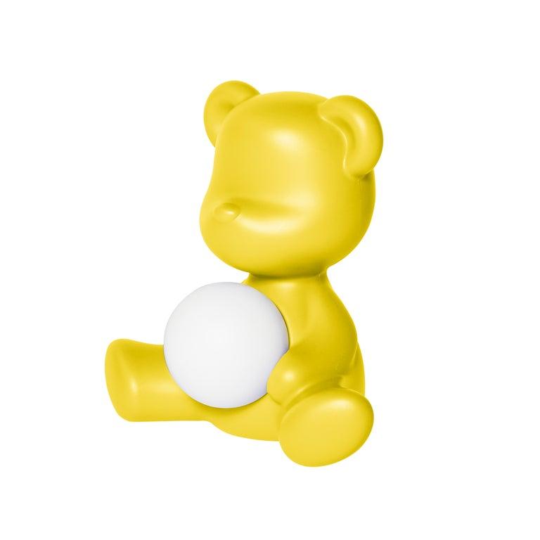 For Sale: Yellow Modern Purple Green Orange Pink White Blue Black or Yellow Teddy Bear Table Lamp 3