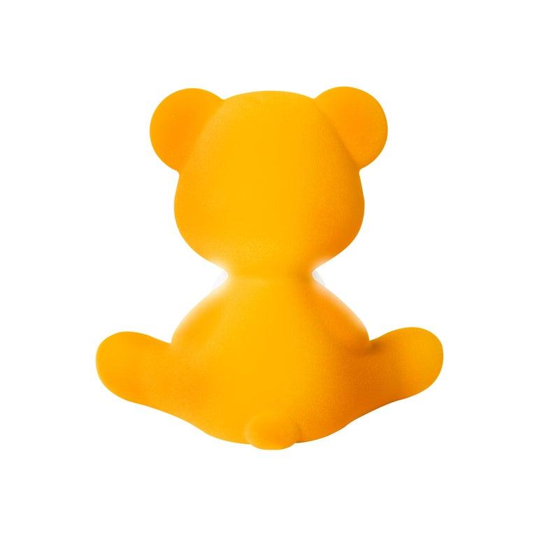 For Sale: Gold (Dark Gold) Modern Velvet Yellow Sculptural Teddybear Table or Floor Lamp 8
