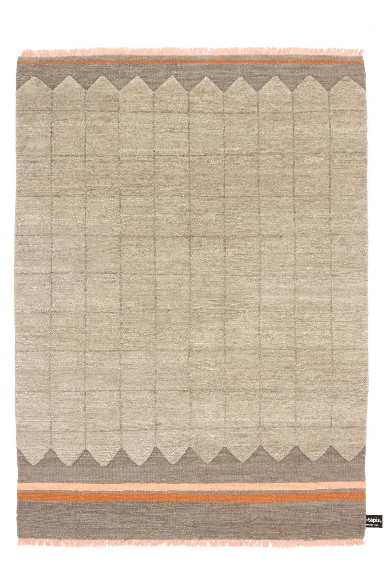 For Sale: Brown (#111) Quadro Celeste B Rug by Studiopepe for CC-Tapis