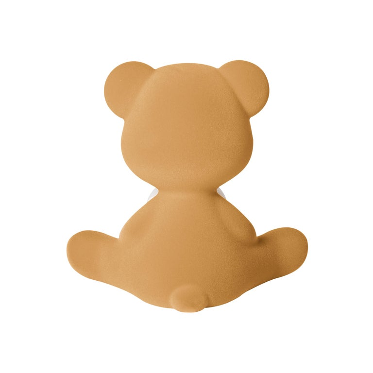 For Sale: Beige (Arena) Modern Velvet Yellow Sculptural Teddybear Table or Floor Lamp 7