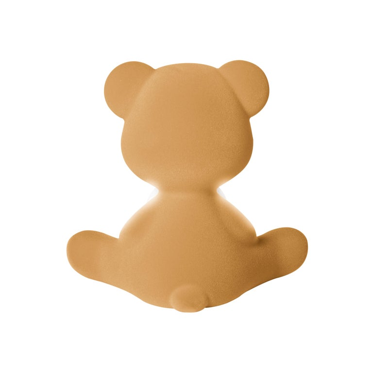 For Sale: Beige (Arena) Modern Velvet Yellow Sculptural Teddybear Table or Floor Lamp 8