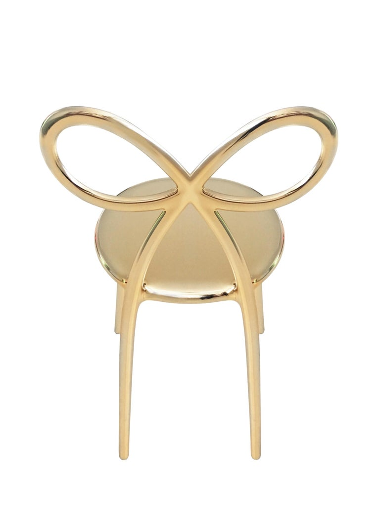 For Sale: Gold Qeeboo Ribbon Chair Metal Finish by Nika Zupanc 4