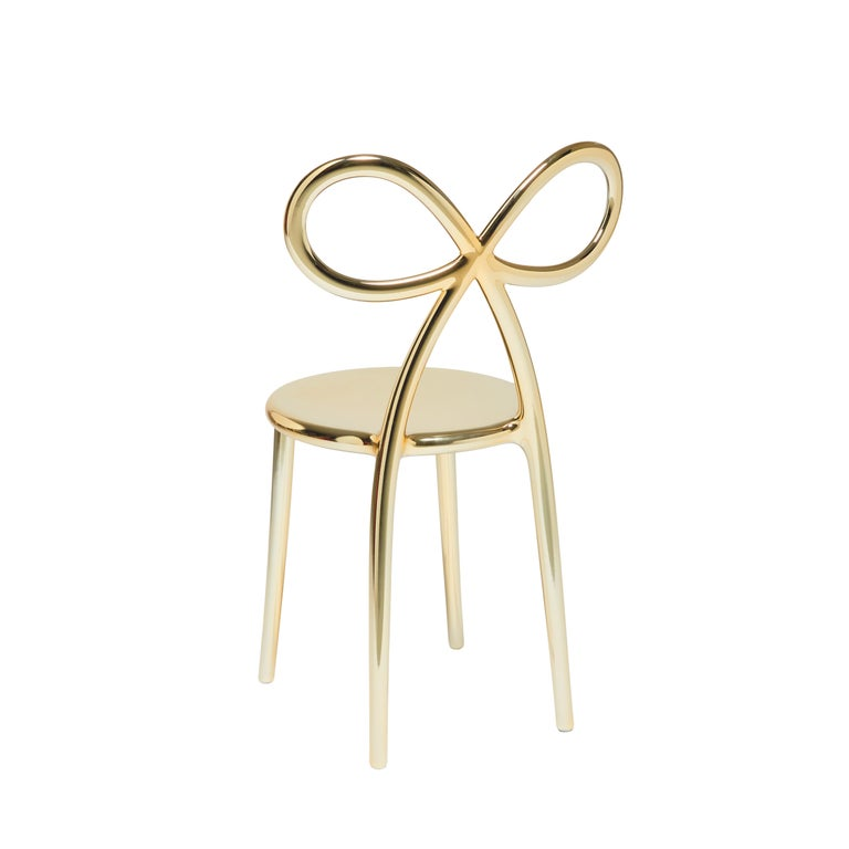 For Sale: Gold Qeeboo Ribbon Chair Metal Finish by Nika Zupanc 5