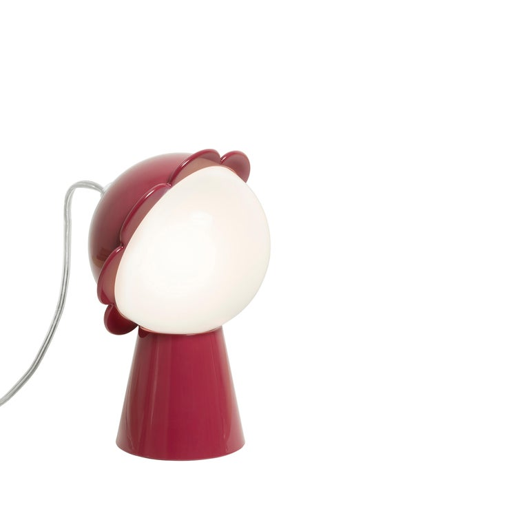 For Sale: Red Modern Black Red Pink Yellow Green or Gray Daisy Flower Table Lamp