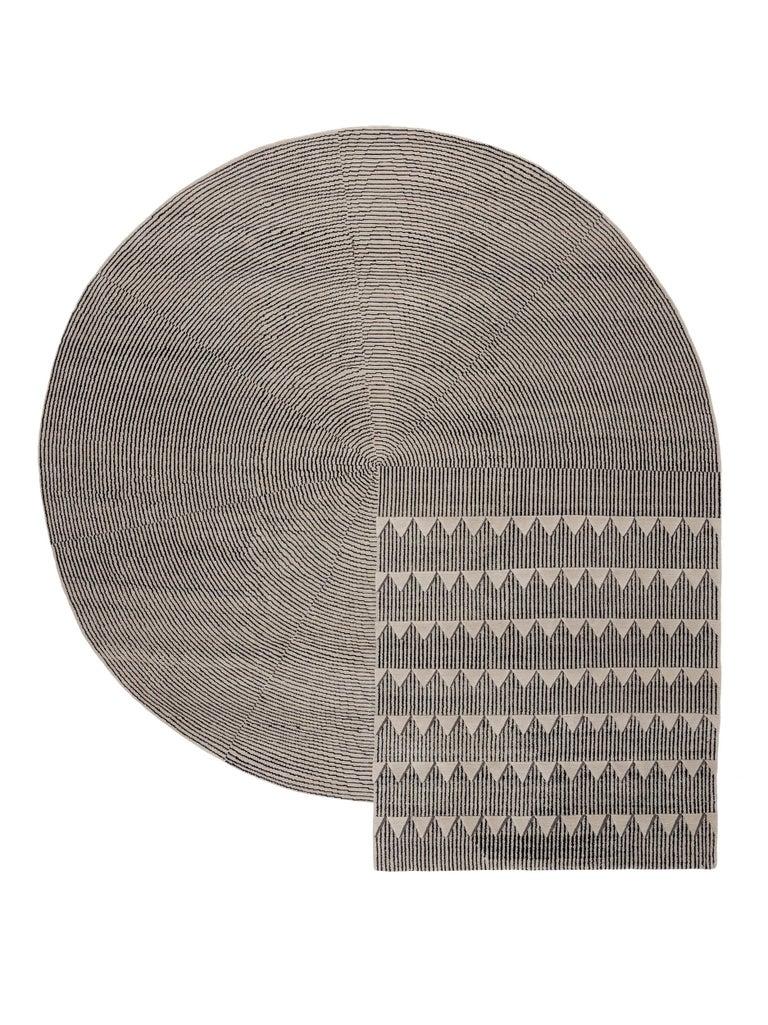 For Sale: Black (Black & White) CC-Tapis Plasterworks C Rug by David/Nicolas