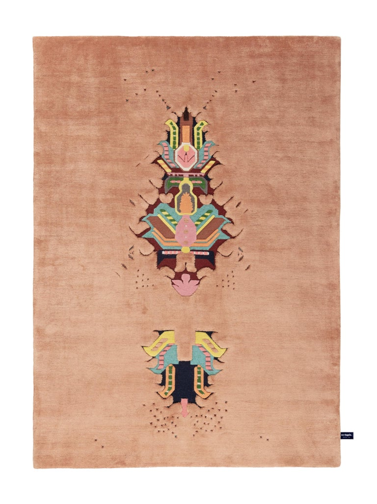 For Sale: Pink (Pink ) The Mothership Rug Invaders Rug by CC-Tapis