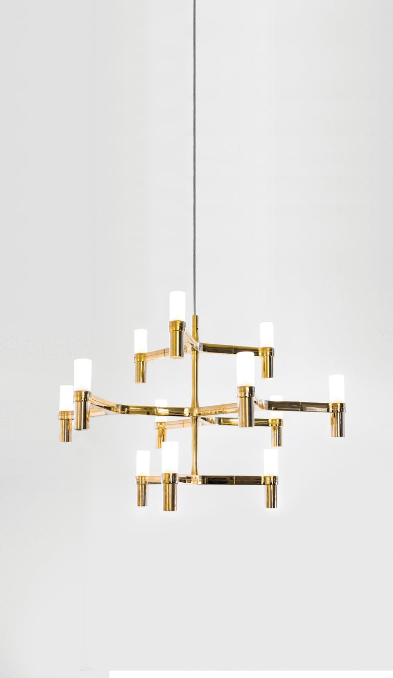 For Sale: Gold (Gold Painted) Nemo Crown Minor Dimmable Pendant Chandeliers by Jehs + Laub 2