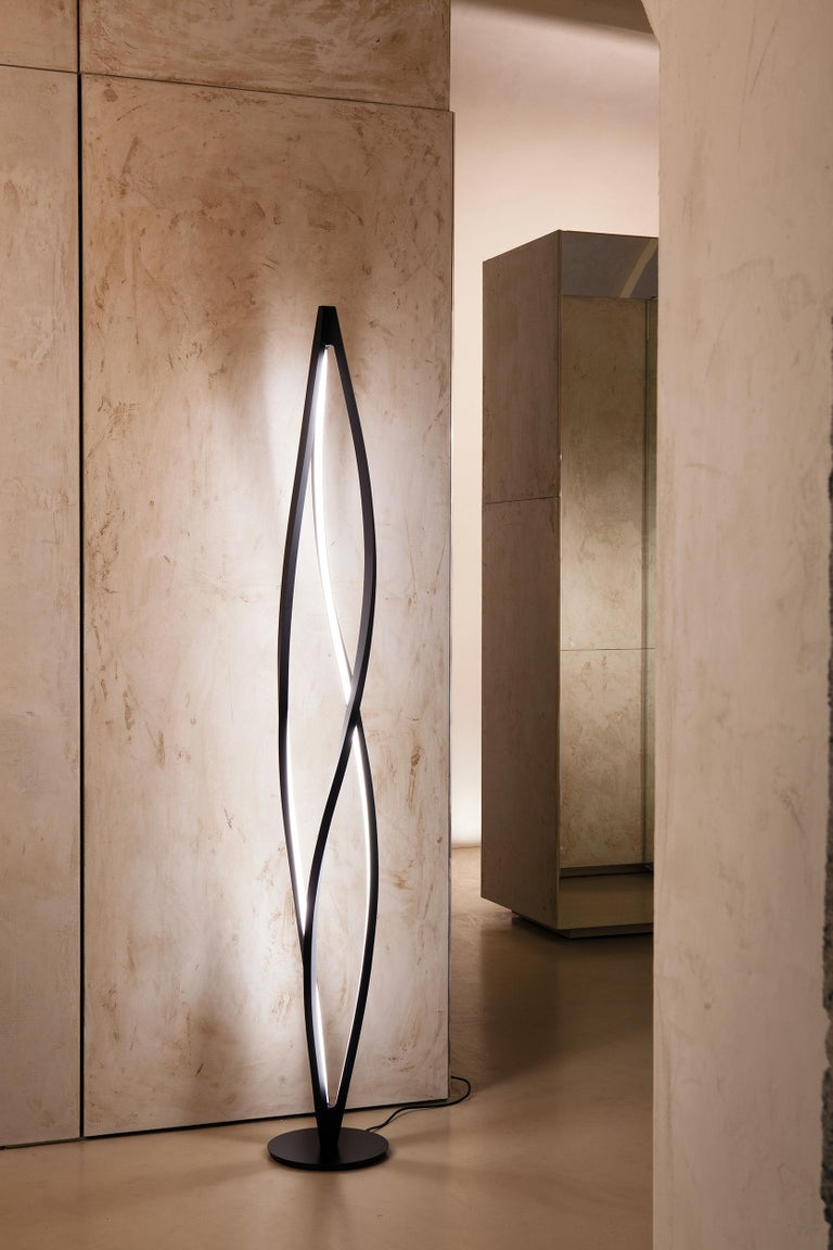 For Sale: Black Nemo in the Wind Floor Dimmable Lamp LED 2700k by Arihiro Miyake 2