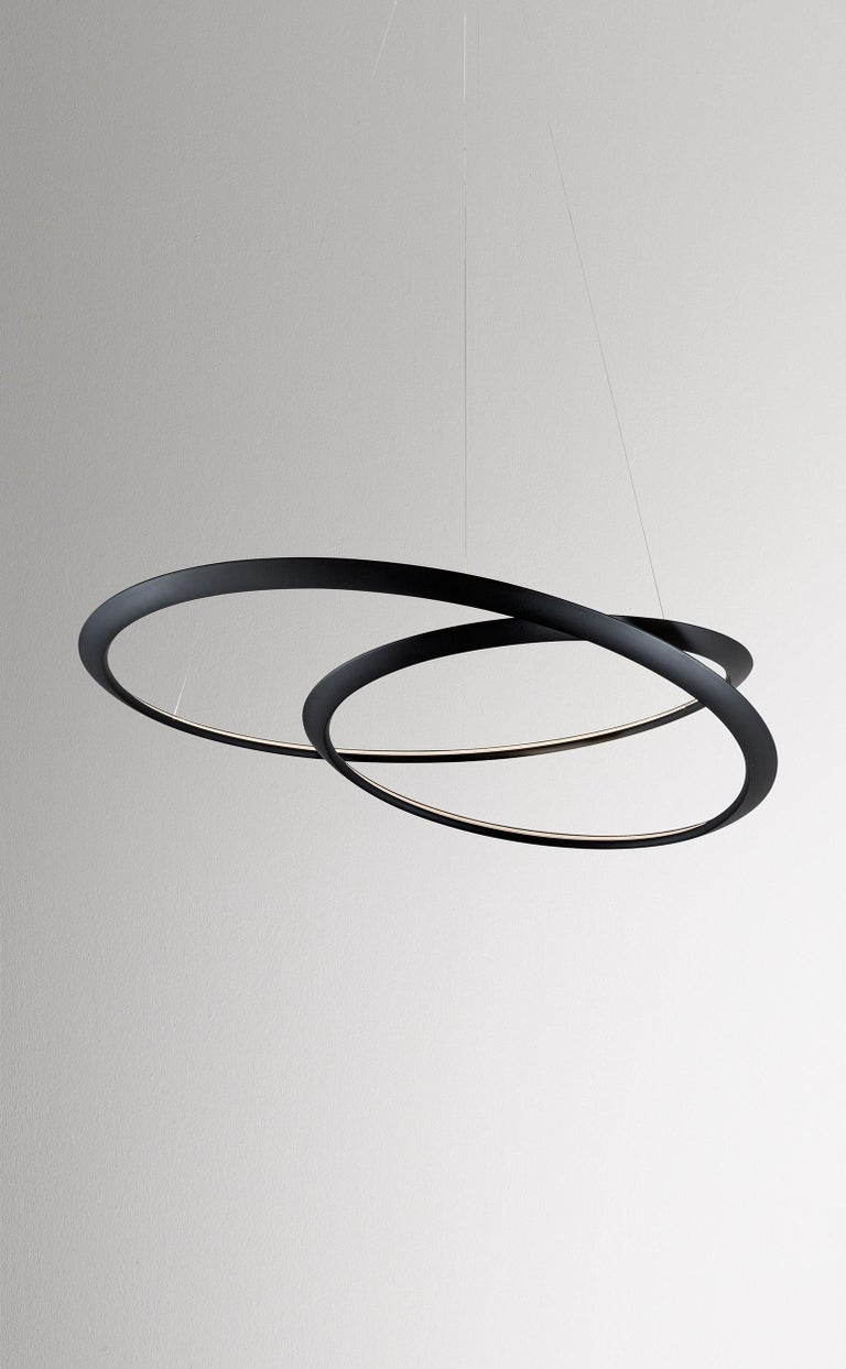 For Sale: Black Nemo Kepler Uplight LED 2700K Dimmable Pendant Lamp by Arihiro Miyake 2