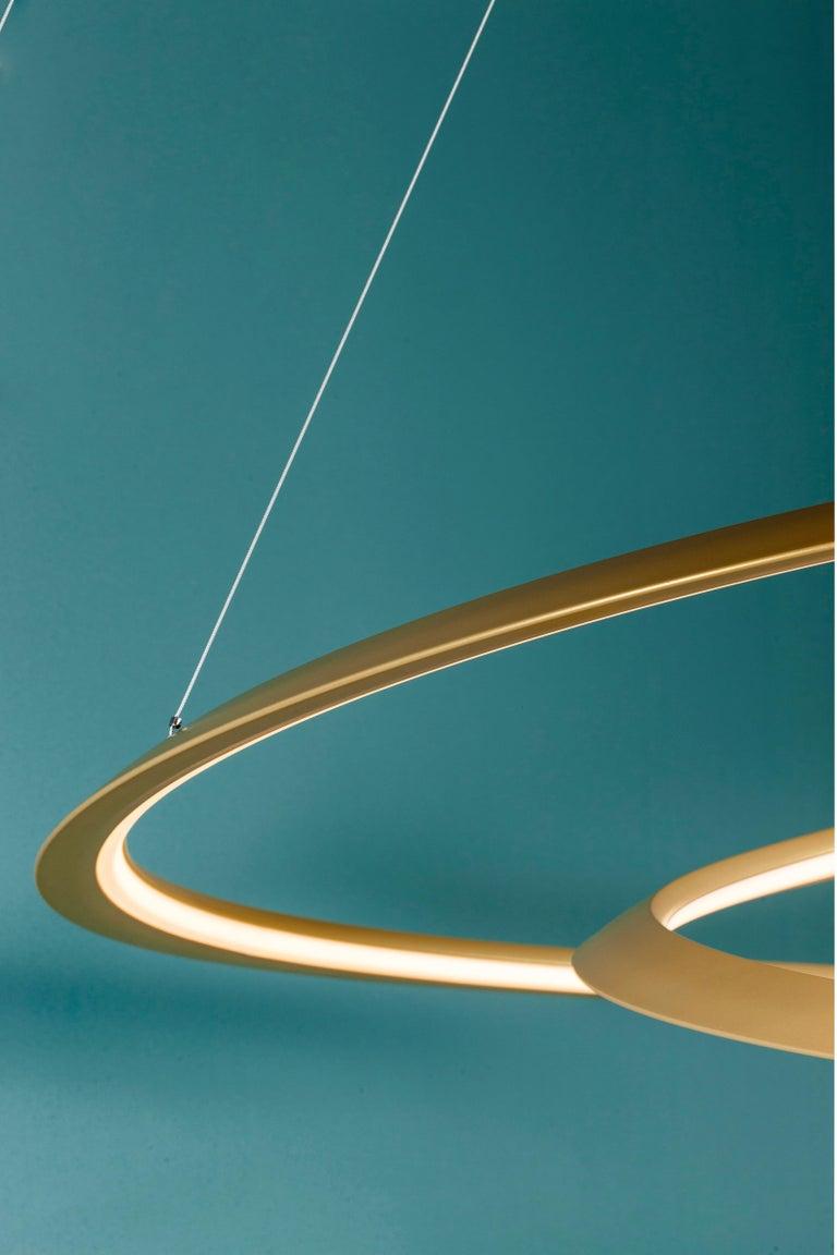 For Sale: Gold Nemo Kepler Downlight LED 3000K Dimmable Pendant Lamp by Arihiro Miyake 2